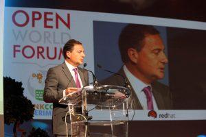 Eric Besson lors de l'édition 2012 de l'OWF