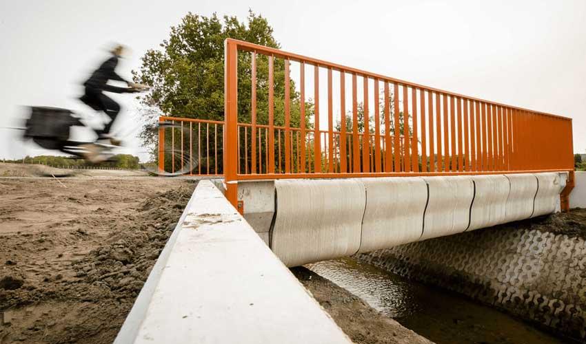 Un premier pont en béton imprimé en 3D aux Pays-Bas