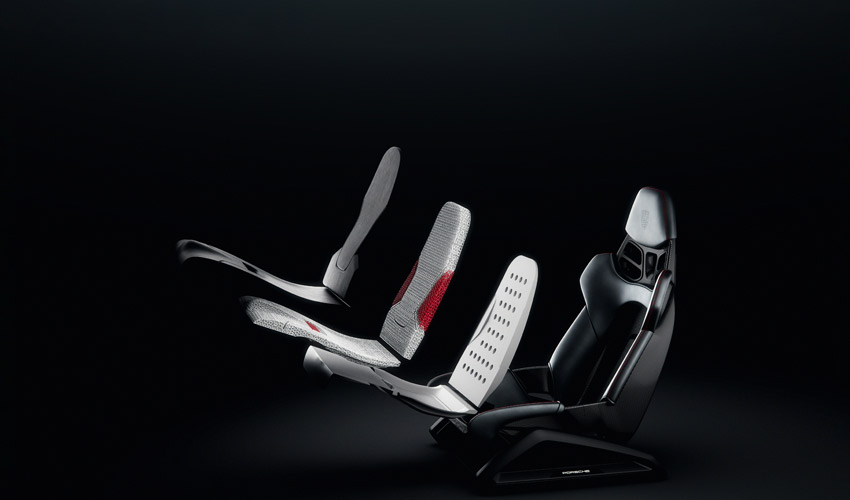 sièges baquets imprimés en 3D