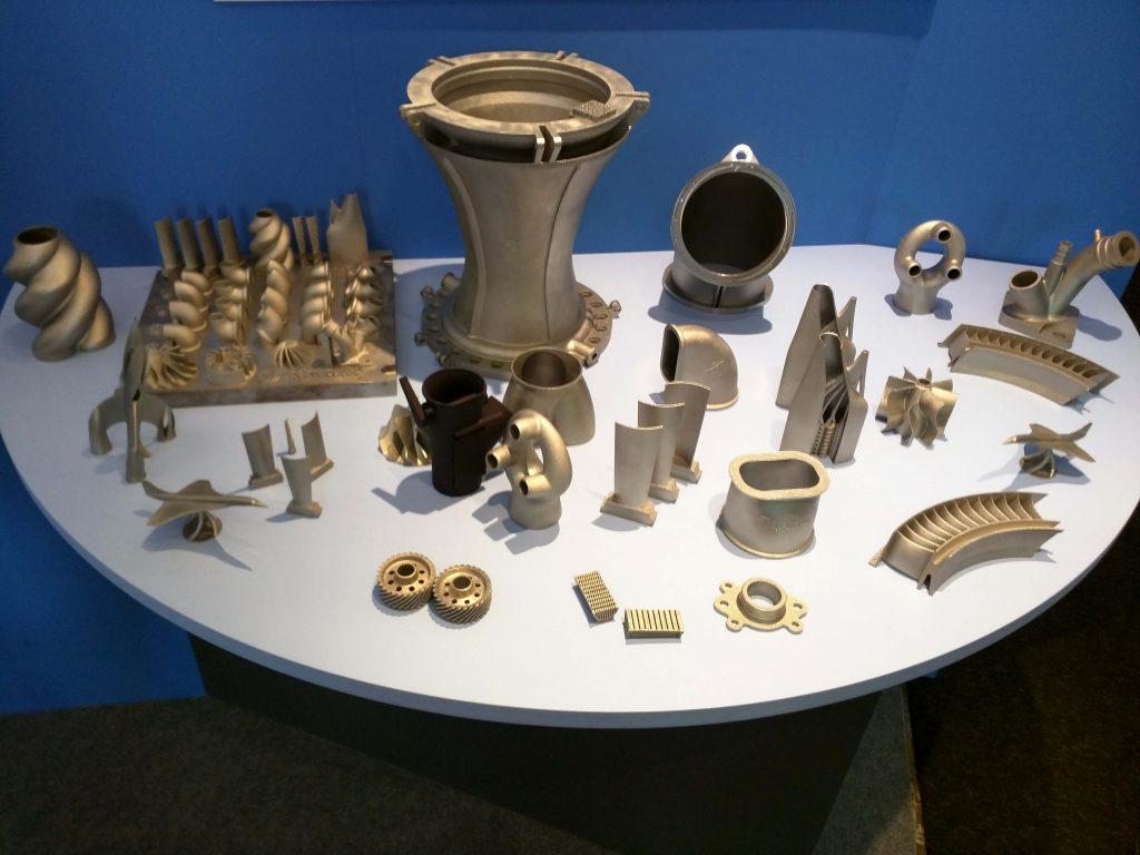 Exemples de pièces sur le stand de Spartacus 3D