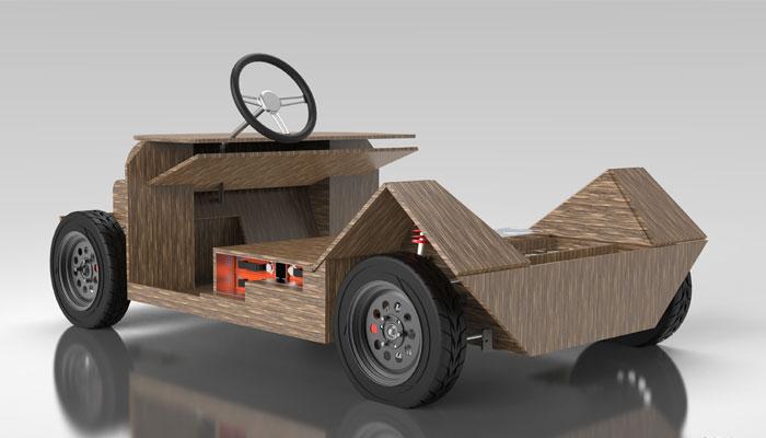 voiture imprimée en 3D
