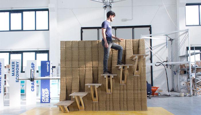 mur imprimé en 3D