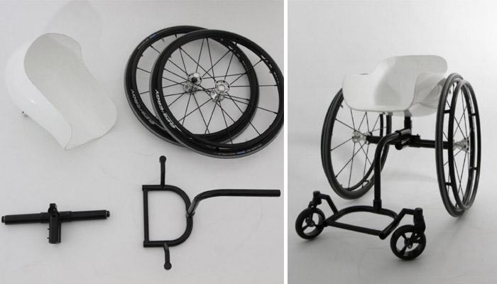 fauteuil roulant imprimé en 3D