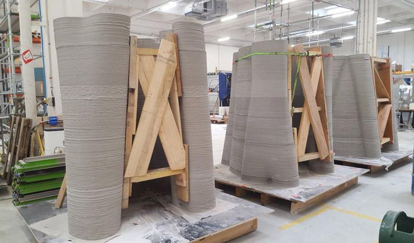 pylônes imprimés en 3D